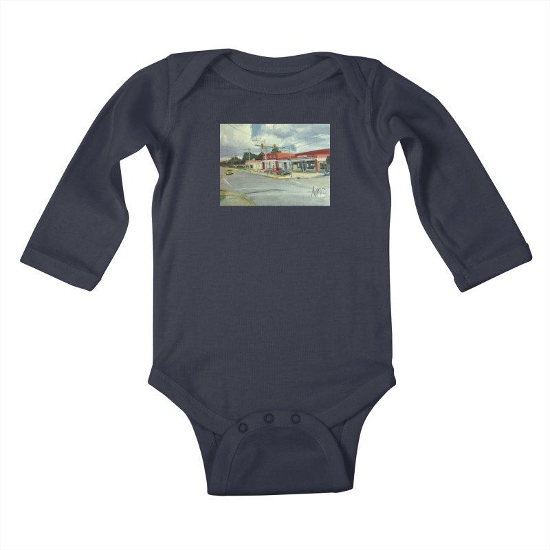 Krispies Chicken Kids Baby Longsleeve Bodysuit by NatalieGatesArt's Shop