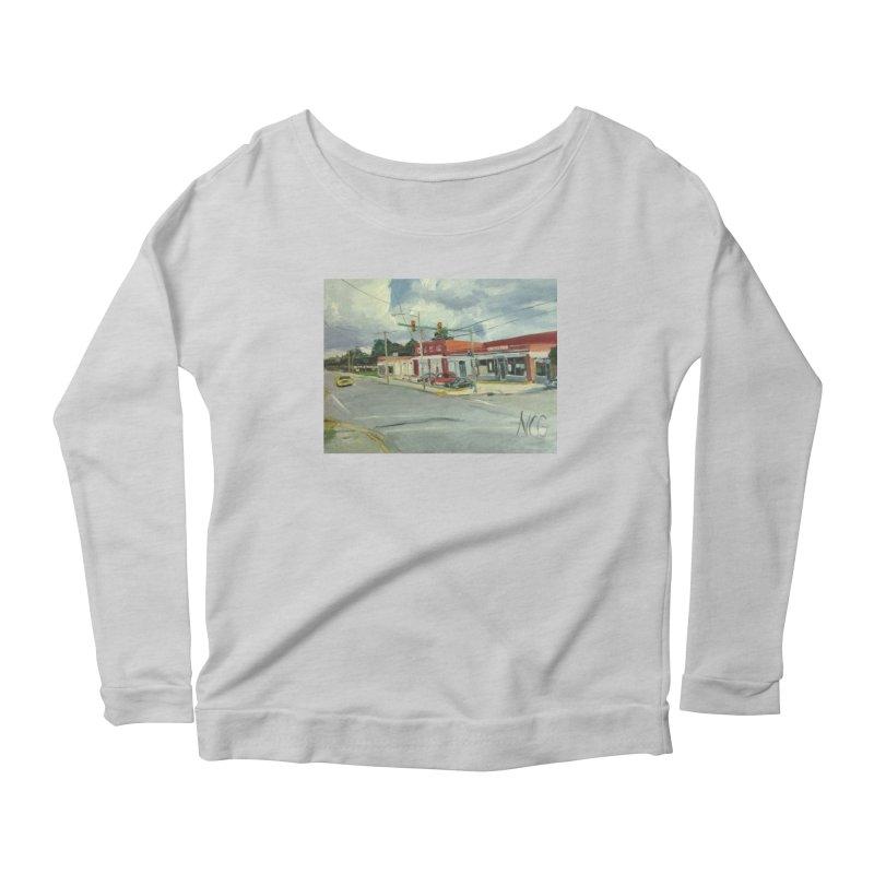 Krispies Chicken Women's Scoop Neck Longsleeve T-Shirt by NatalieGatesArt's Shop