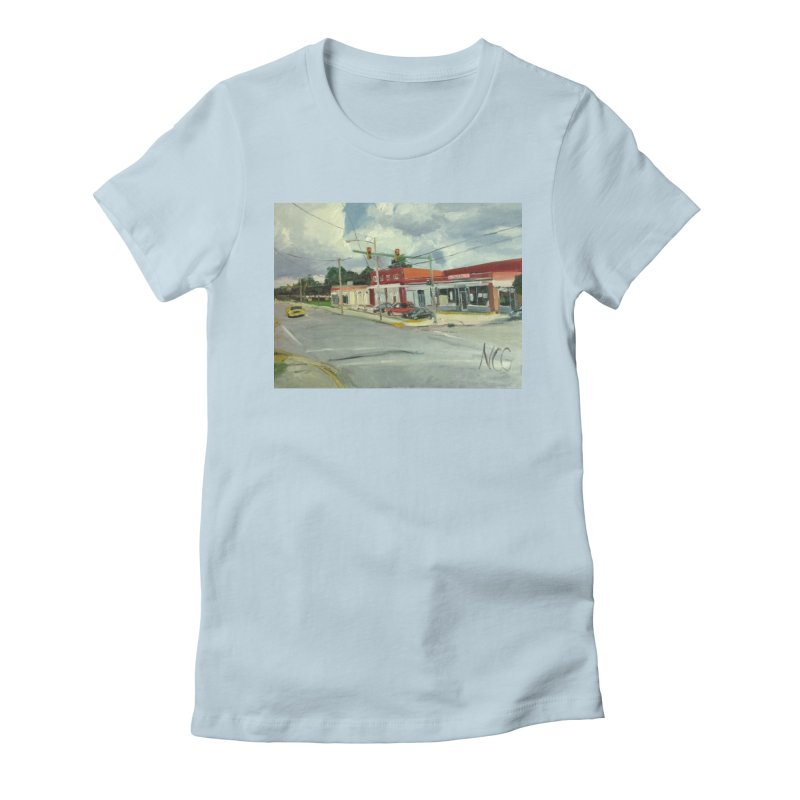 Krispies Chicken Women's Fitted T-Shirt by NatalieGatesArt's Shop