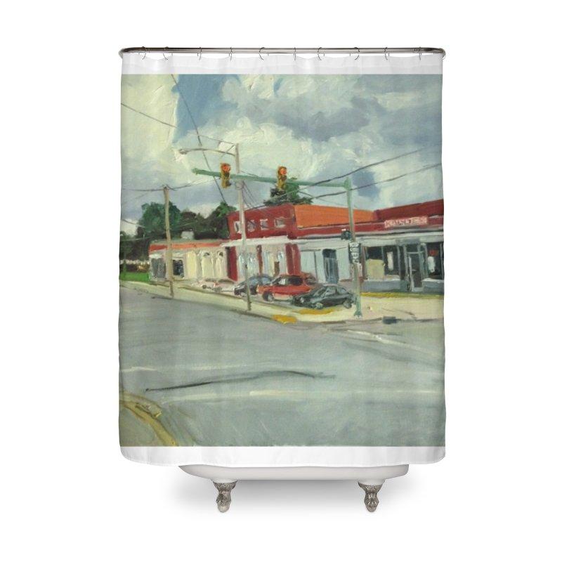 Krispies Chicken Home Shower Curtain by NatalieGatesArt's Shop