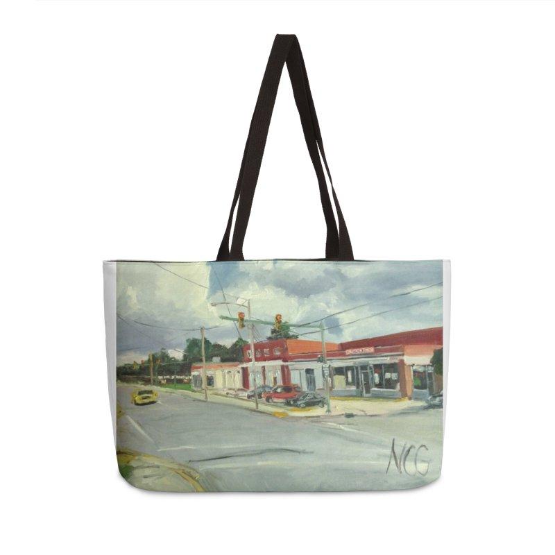 Krispies Chicken Accessories Weekender Bag Bag by NatalieGatesArt's Shop