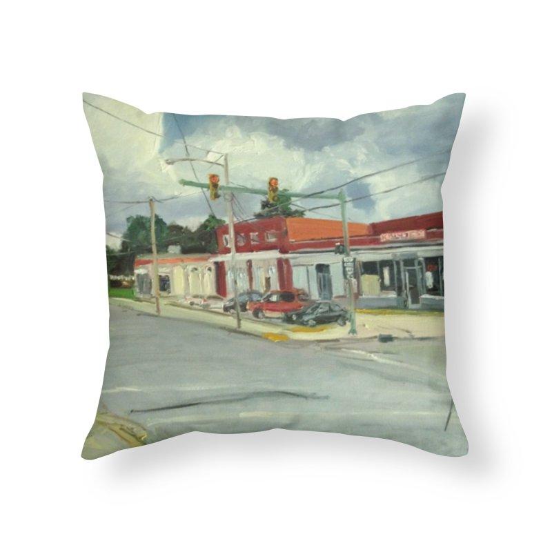 Krispies Chicken Home Throw Pillow by NatalieGatesArt's Shop