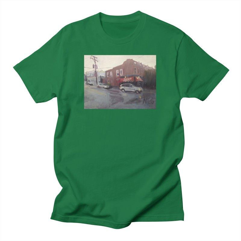 """Bamboo Cafe in a Summer Evening Storm"" Men's T-Shirt by NatalieGatesArt's Shop"