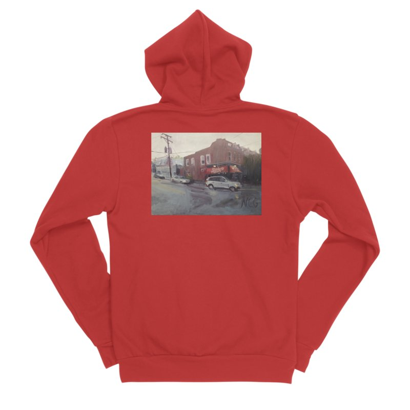 """""""Bamboo Cafe in a Summer Evening Storm"""" Women's Zip-Up Hoody by NatalieGatesArt's Shop"""