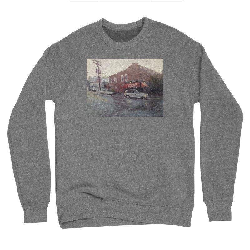 """Bamboo Cafe in a Summer Evening Storm"" Women's Sponge Fleece Sweatshirt by NatalieGatesArt's Shop"
