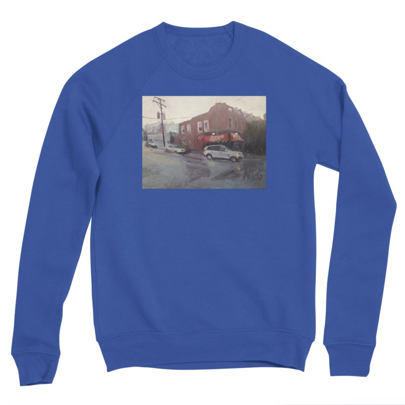 """Bamboo Cafe in a Summer Evening Storm"" Women's Sweatshirt by NatalieGatesArt's Shop"