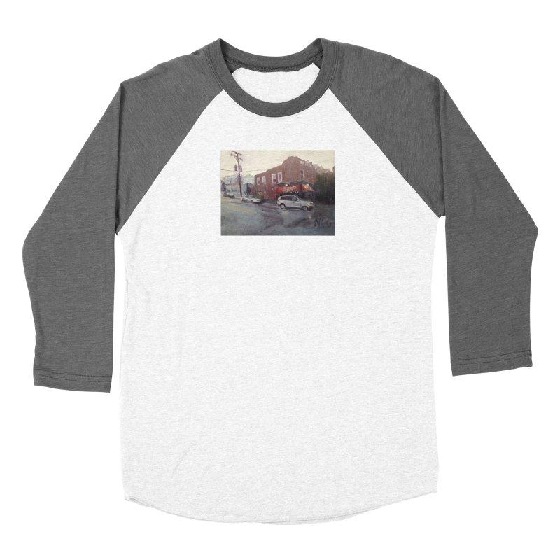 """Bamboo Cafe in a Summer Evening Storm"" Women's Longsleeve T-Shirt by NatalieGatesArt's Shop"