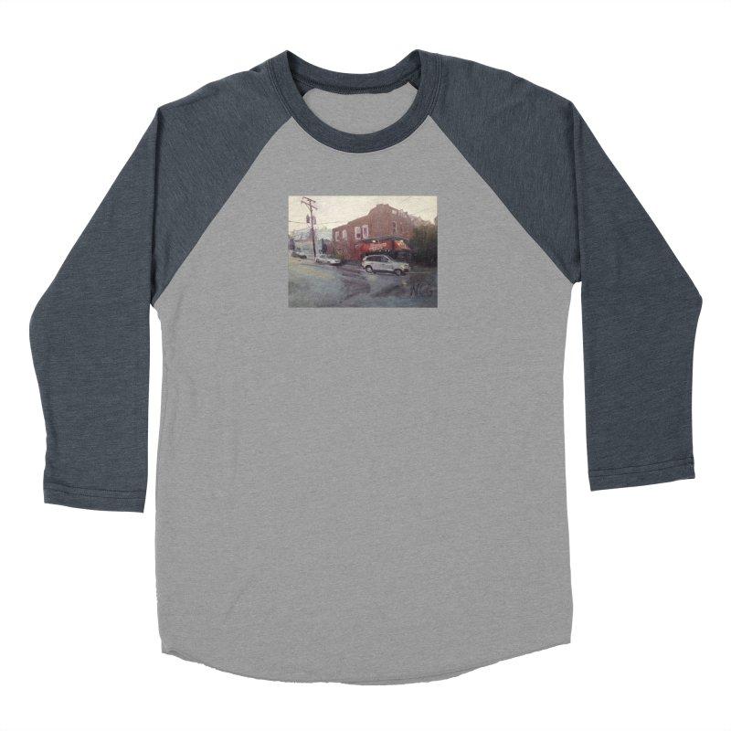 """Bamboo Cafe in a Summer Evening Storm"" Men's Longsleeve T-Shirt by NatalieGatesArt's Shop"