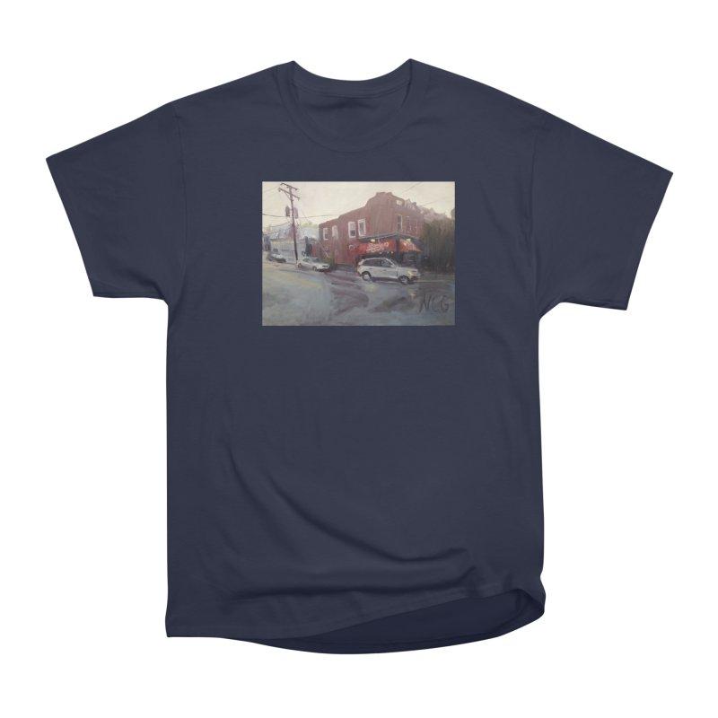 """Bamboo Cafe in a Summer Evening Storm"" Women's Heavyweight Unisex T-Shirt by NatalieGatesArt's Shop"