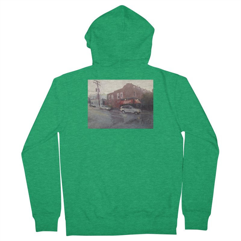 """""""Bamboo Cafe in a Summer Evening Storm"""" Men's Zip-Up Hoody by NatalieGatesArt's Shop"""