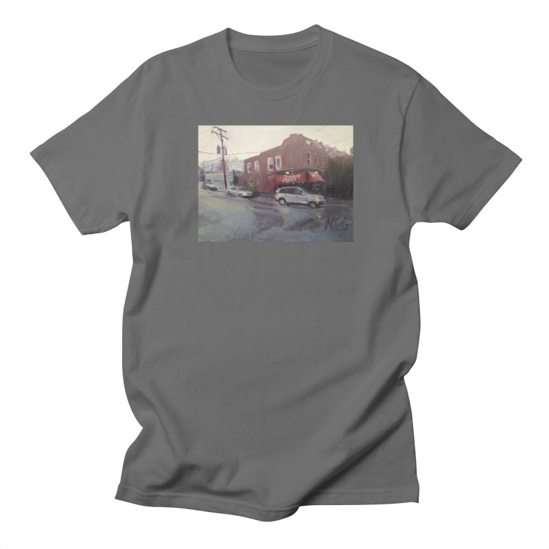 """Bamboo Cafe in a Summer Evening Storm"" Men's T-Shirt by NatalieGatesArt's Shop"