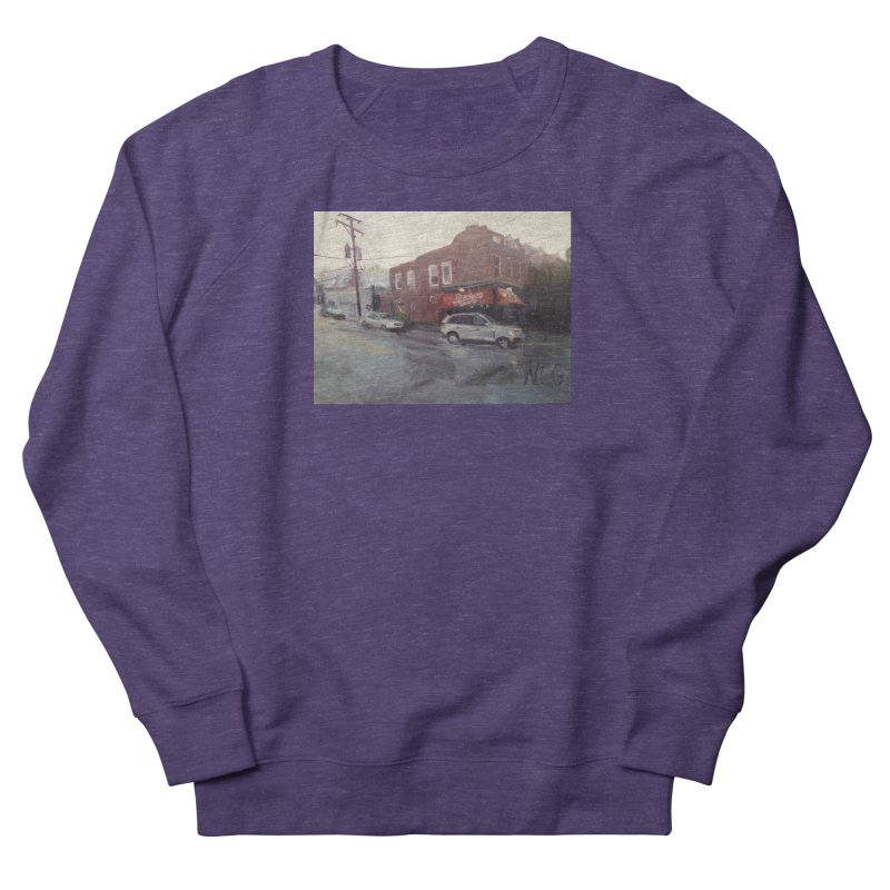 """Bamboo Cafe in a Summer Evening Storm"" Men's Sweatshirt by NatalieGatesArt's Shop"