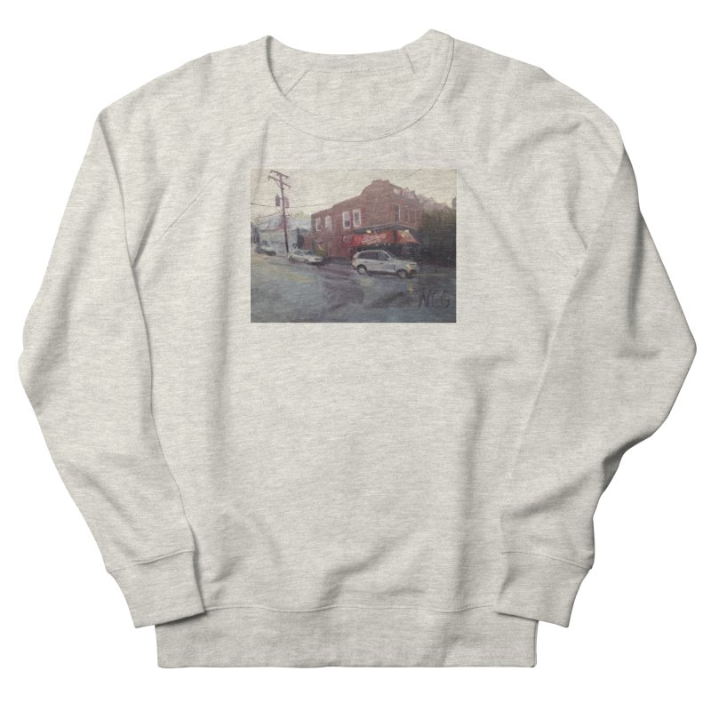 """""""Bamboo Cafe in a Summer Evening Storm"""" Men's French Terry Sweatshirt by NatalieGatesArt's Shop"""