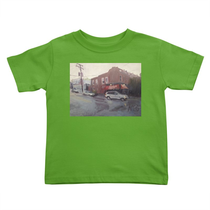 """""""Bamboo Cafe in a Summer Evening Storm"""" Kids Toddler T-Shirt by NatalieGatesArt's Shop"""