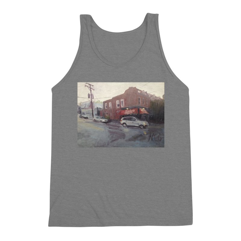 """""""Bamboo Cafe in a Summer Evening Storm"""" Men's Tank by NatalieGatesArt's Shop"""