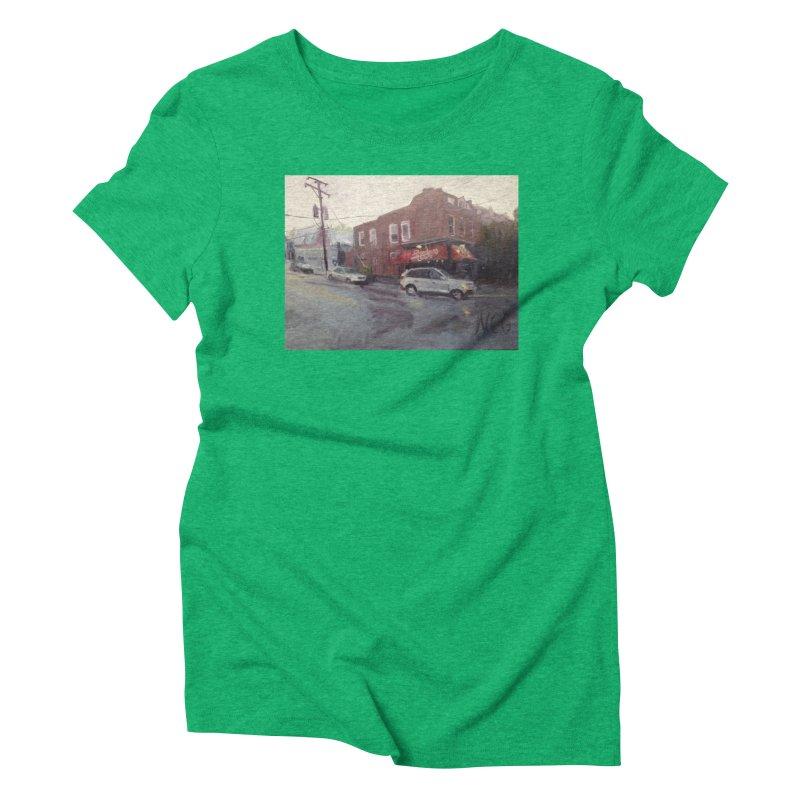 """Bamboo Cafe in a Summer Evening Storm"" Women's T-Shirt by NatalieGatesArt's Shop"