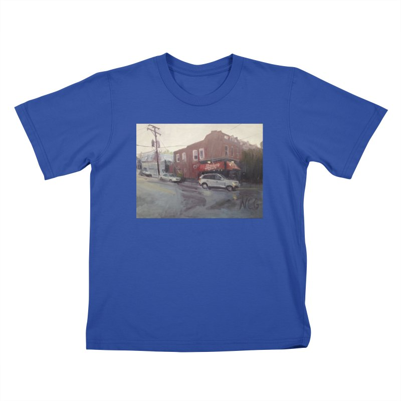 """Bamboo Cafe in a Summer Evening Storm"" Kids T-Shirt by NatalieGatesArt's Shop"