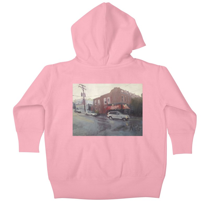 """""""Bamboo Cafe in a Summer Evening Storm"""" Kids Baby Zip-Up Hoody by NatalieGatesArt's Shop"""