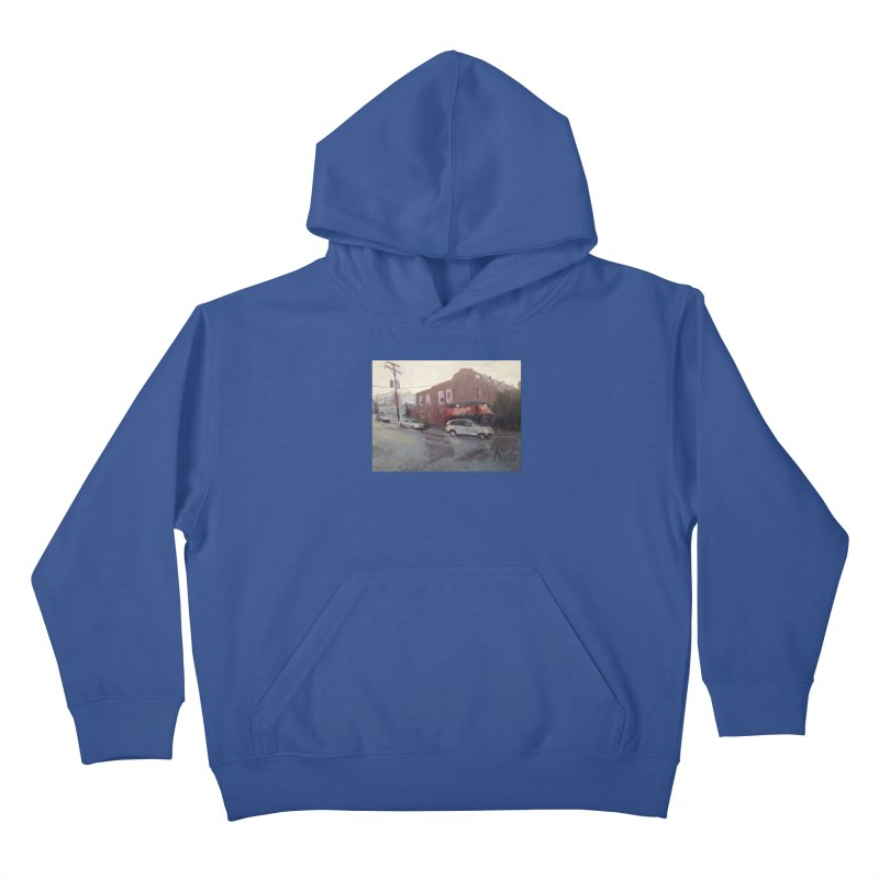 """""""Bamboo Cafe in a Summer Evening Storm"""" Kids Pullover Hoody by NatalieGatesArt's Shop"""