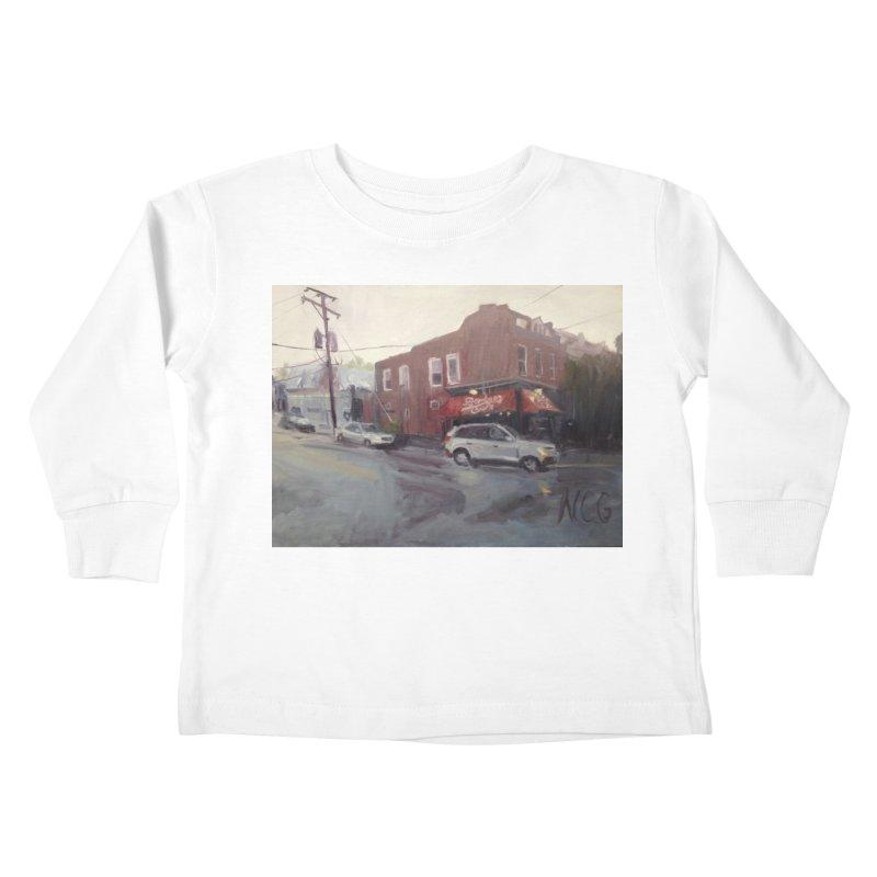 """Bamboo Cafe in a Summer Evening Storm"" Kids Toddler Longsleeve T-Shirt by NatalieGatesArt's Shop"