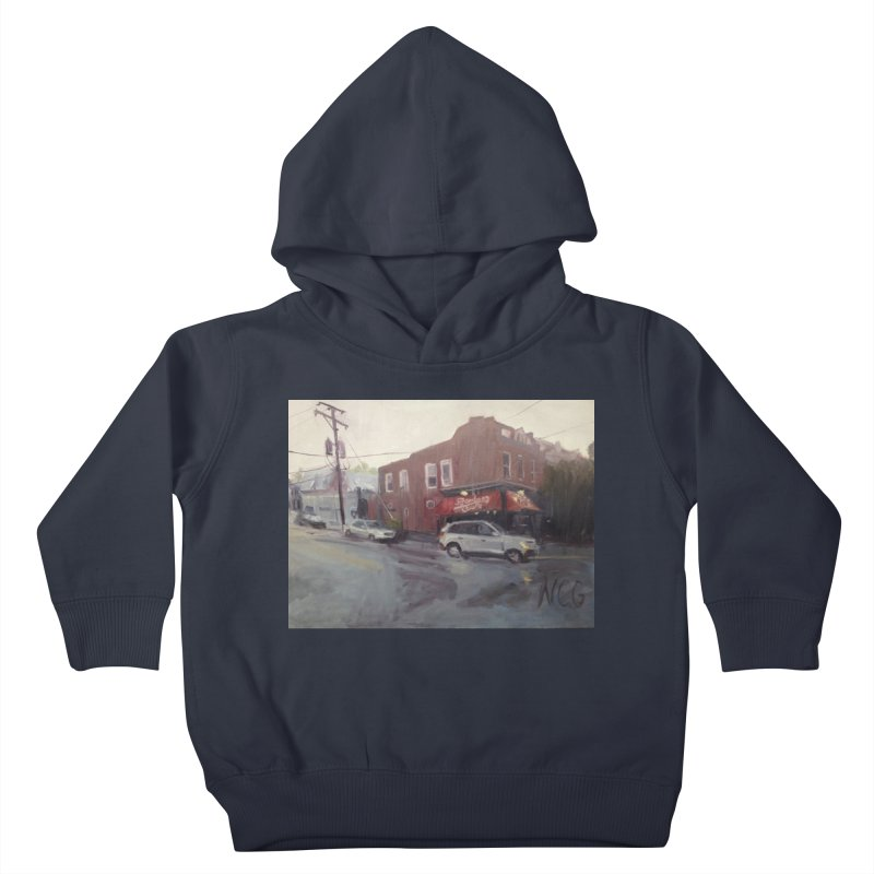 """Bamboo Cafe in a Summer Evening Storm"" Kids Toddler Pullover Hoody by NatalieGatesArt's Shop"
