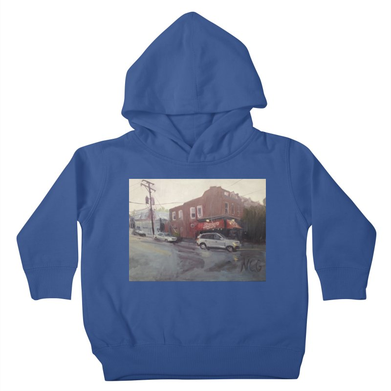 """""""Bamboo Cafe in a Summer Evening Storm"""" Kids Toddler Pullover Hoody by NatalieGatesArt's Shop"""