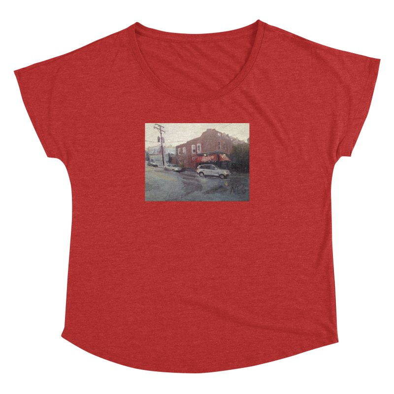 """""""Bamboo Cafe in a Summer Evening Storm"""" Women's Dolman Scoop Neck by NatalieGatesArt's Shop"""