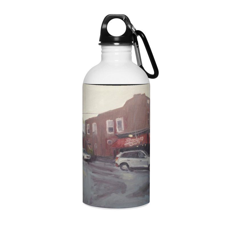 """Bamboo Cafe in a Summer Evening Storm"" Accessories Water Bottle by NatalieGatesArt's Shop"