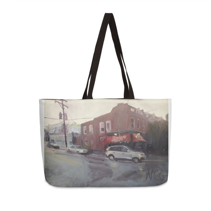 """""""Bamboo Cafe in a Summer Evening Storm"""" Accessories Weekender Bag Bag by NatalieGatesArt's Shop"""