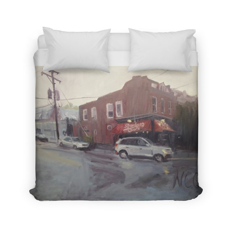 """""""Bamboo Cafe in a Summer Evening Storm"""" Home Duvet by NatalieGatesArt's Shop"""