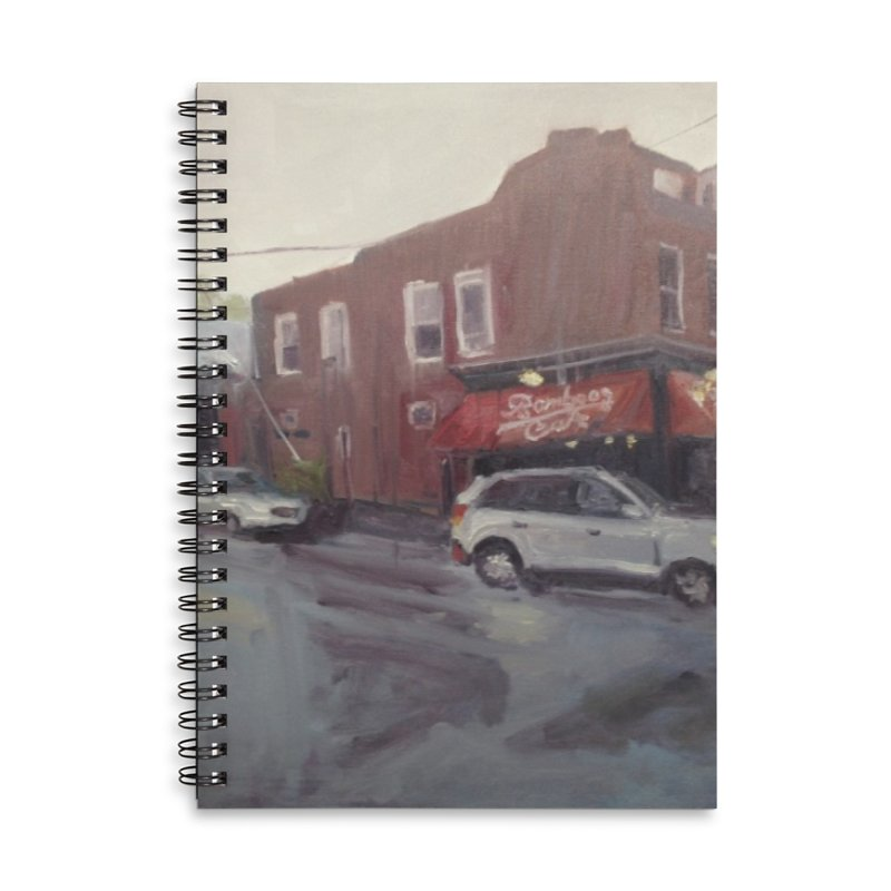 """""""Bamboo Cafe in a Summer Evening Storm"""" Accessories Notebook by NatalieGatesArt's Shop"""