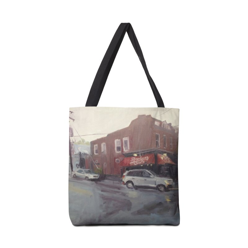 """Bamboo Cafe in a Summer Evening Storm"" Accessories Tote Bag Bag by NatalieGatesArt's Shop"