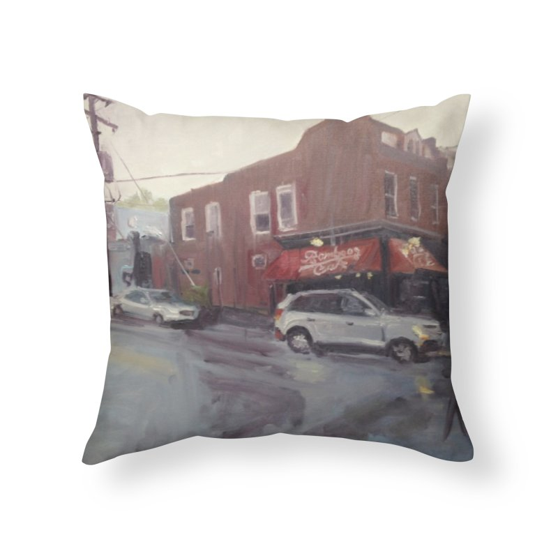 """Bamboo Cafe in a Summer Evening Storm"" Home Throw Pillow by NatalieGatesArt's Shop"