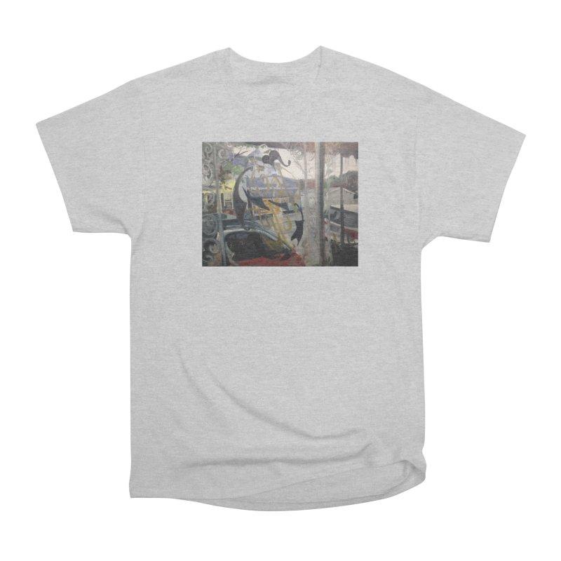 """""""Shields Market in a Summer Shower as seen from inside Joe's Inn Men's T-Shirt by NatalieGatesArt's Shop"""
