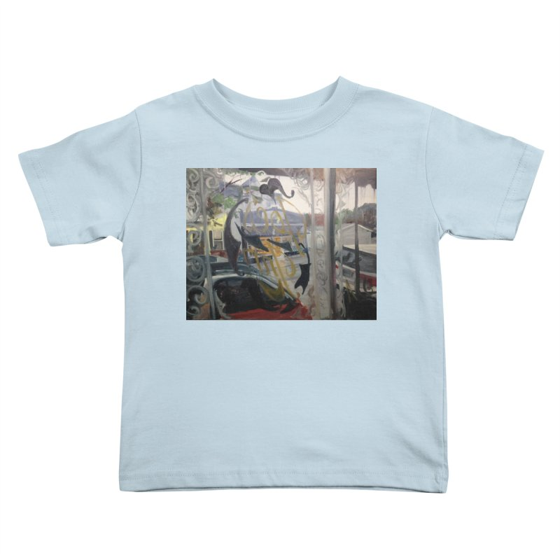 """Shields Market in a Summer Shower as seen from inside Joe's Inn Kids Toddler T-Shirt by NatalieGatesArt's Shop"