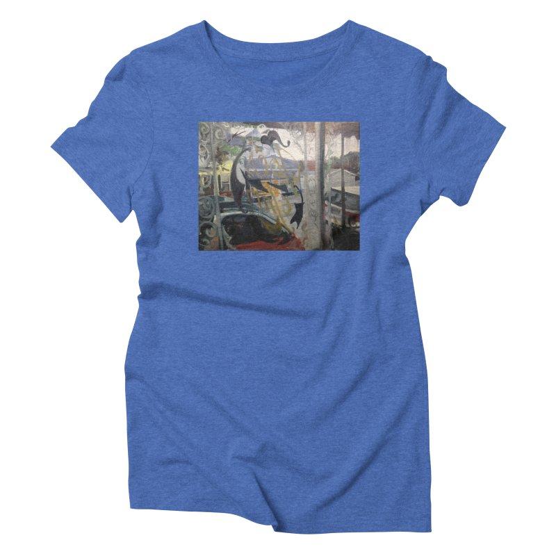 """""""Shields Market in a Summer Shower as seen from inside Joe's Inn Women's T-Shirt by NatalieGatesArt's Shop"""