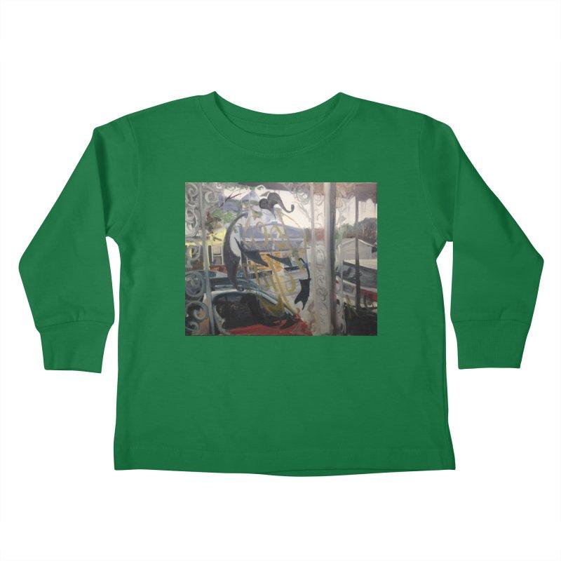 """Shields Market in a Summer Shower as seen from inside Joe's Inn Kids Toddler Longsleeve T-Shirt by NatalieGatesArt's Shop"