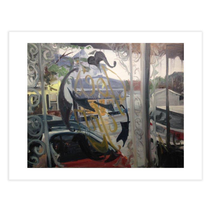 """""""Shields Market in a Summer Shower as seen from inside Joe's Inn Home Fine Art Print by NatalieGatesArt's Shop"""