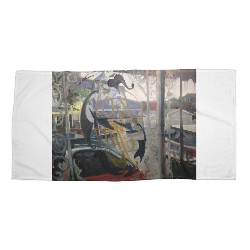 """""""Shields Market in a Summer Shower as seen from inside Joe's Inn Accessories Beach Towel by NatalieGatesArt's Shop"""