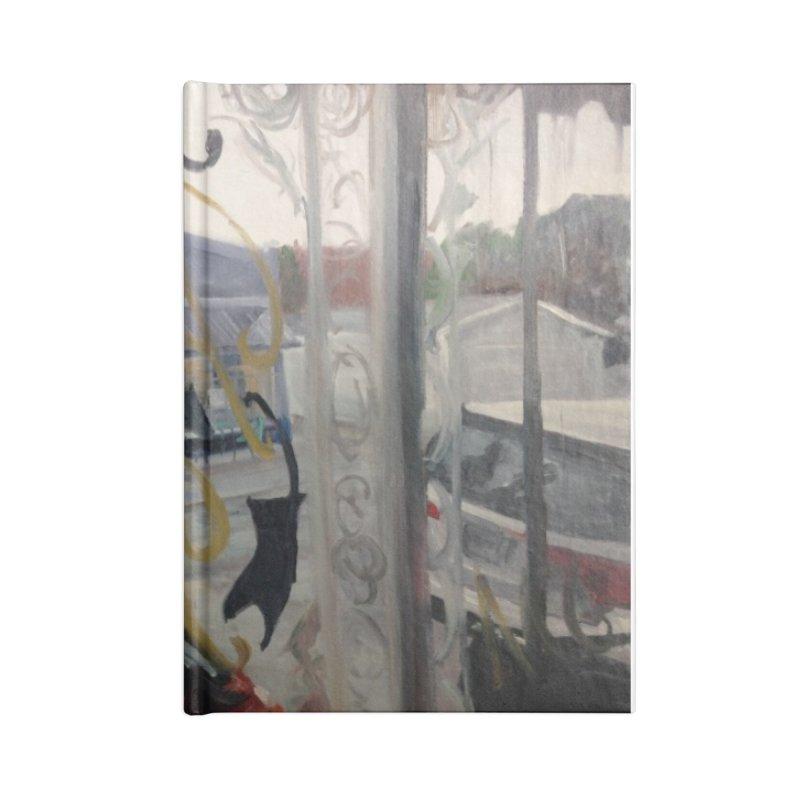 """""""Shields Market in a Summer Shower as seen from inside Joe's Inn Accessories Notebook by NatalieGatesArt's Shop"""