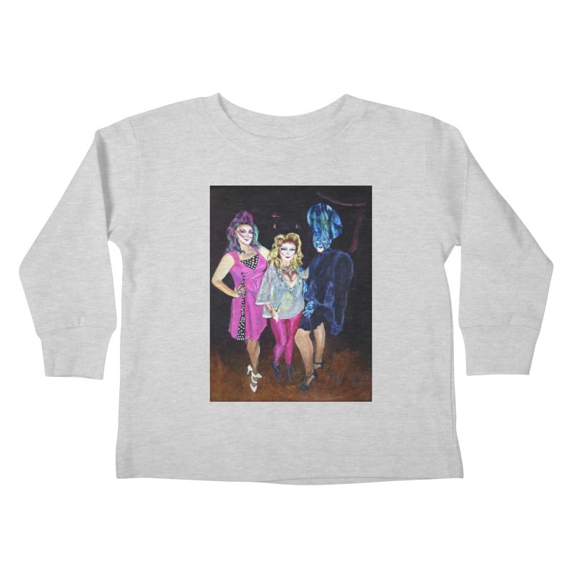 """Three Fancy Ladies"" Kids Toddler Longsleeve T-Shirt by NatalieGatesArt's Shop"
