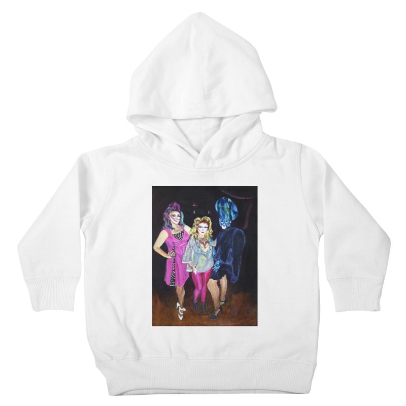"""""""Three Fancy Ladies"""" Kids Toddler Pullover Hoody by NatalieGatesArt's Shop"""