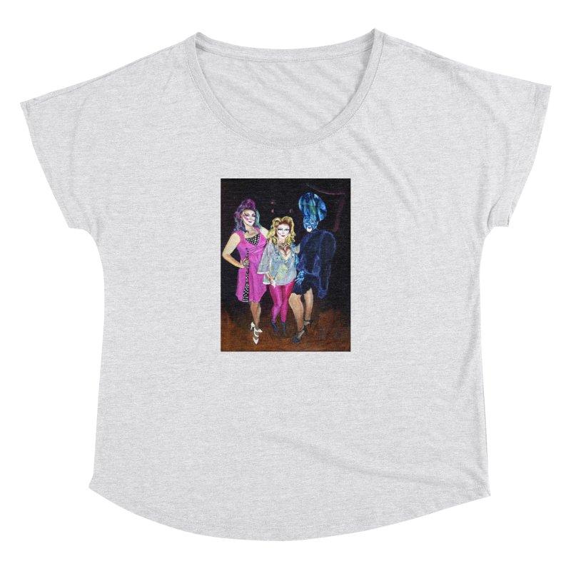 """""""Three Fancy Ladies"""" Women's Dolman Scoop Neck by NatalieGatesArt's Shop"""