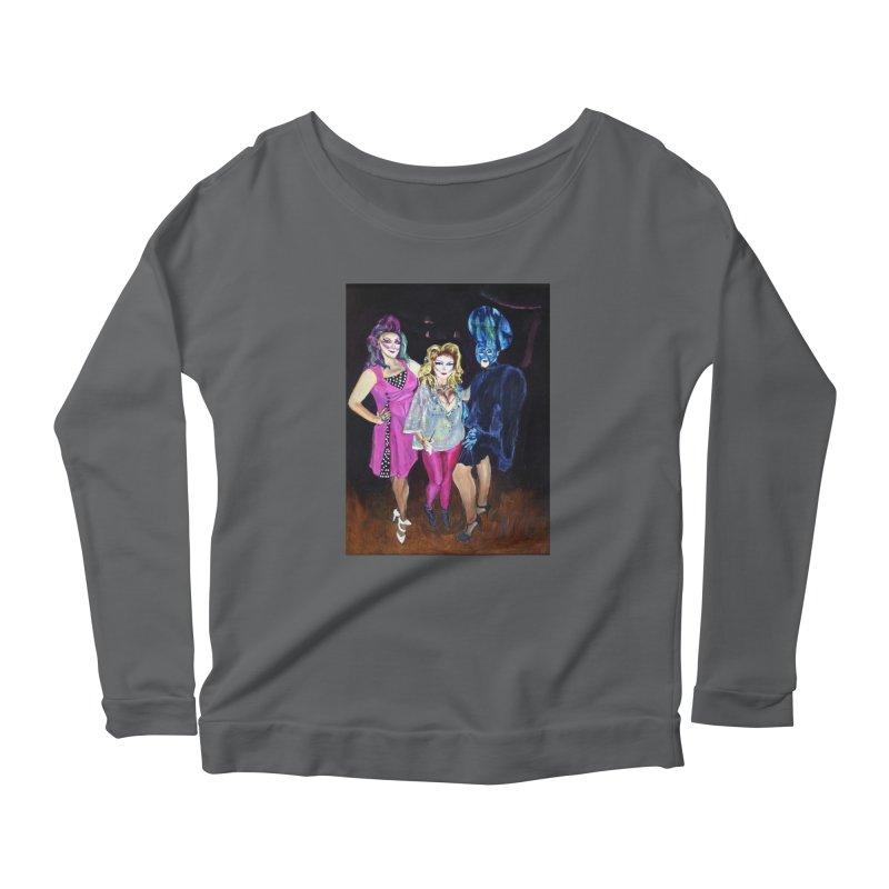 """""""Three Fancy Ladies"""" Women's Scoop Neck Longsleeve T-Shirt by NatalieGatesArt's Shop"""