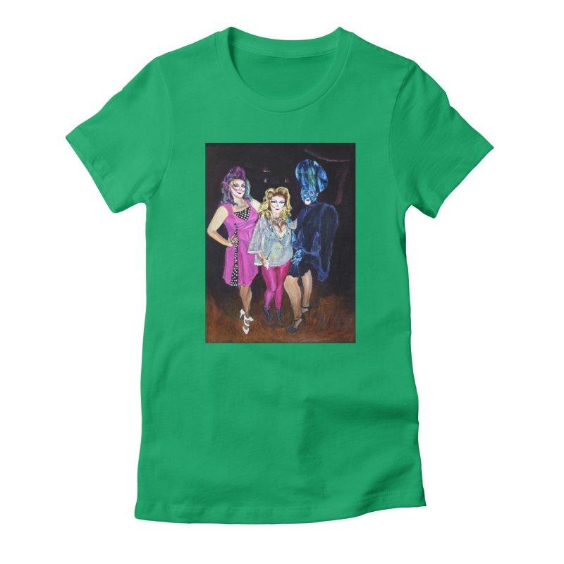 """Three Fancy Ladies"" Women's Fitted T-Shirt by NatalieGatesArt's Shop"