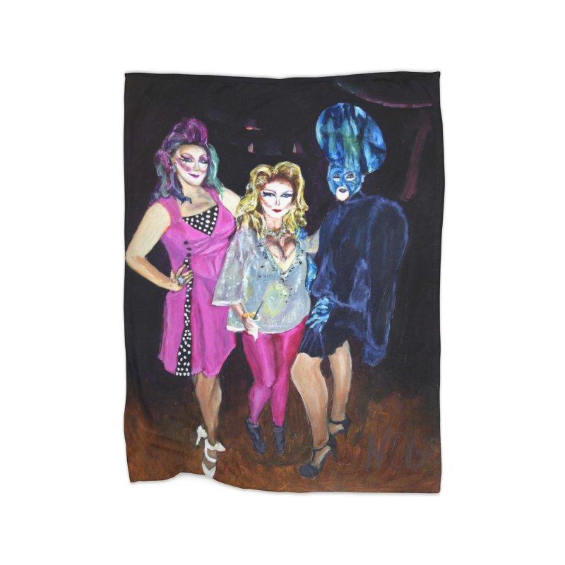 """""""Three Fancy Ladies"""" Home Blanket by NatalieGatesArt's Shop"""