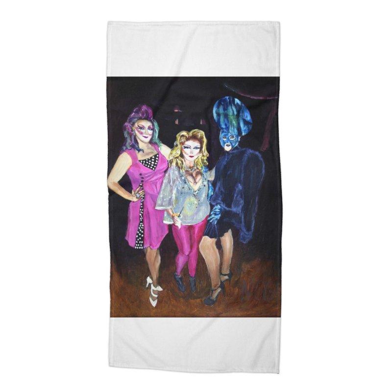 """Three Fancy Ladies"" Accessories Beach Towel by NatalieGatesArt's Shop"