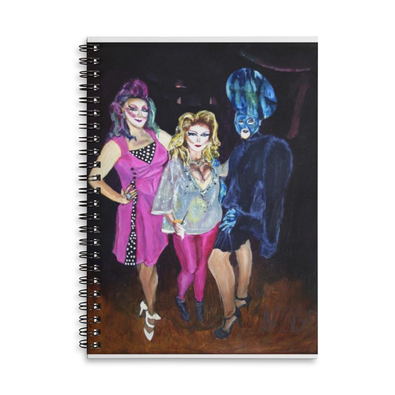 """""""Three Fancy Ladies"""" Accessories Lined Spiral Notebook by NatalieGatesArt's Shop"""