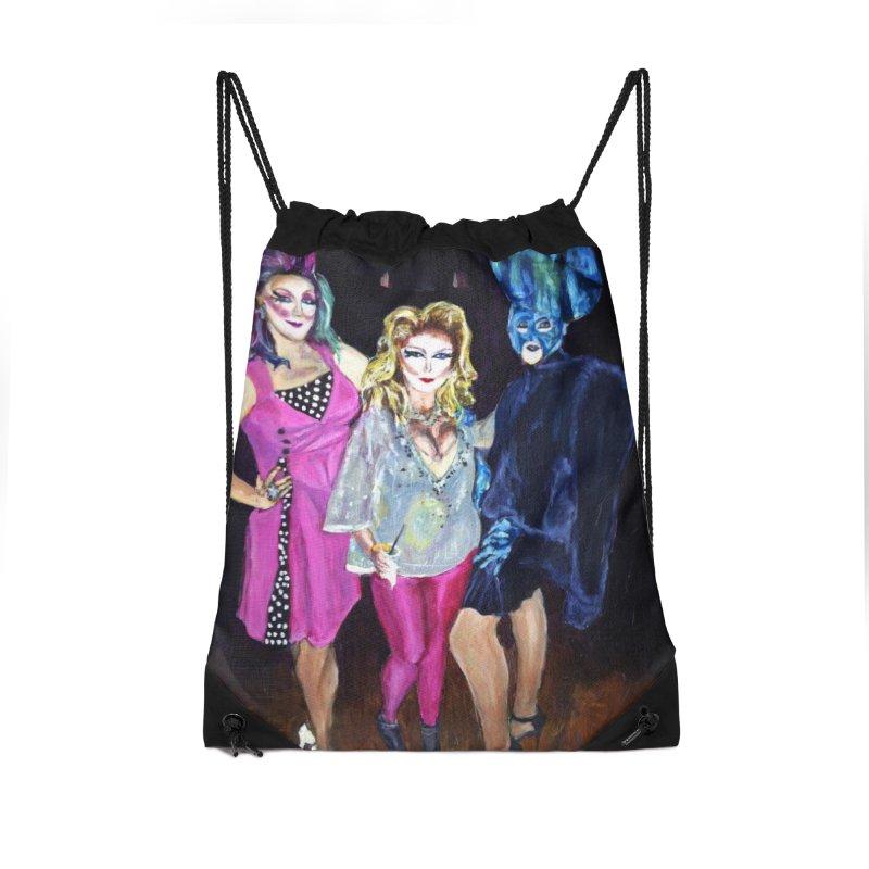 """Three Fancy Ladies"" Accessories Drawstring Bag Bag by NatalieGatesArt's Shop"