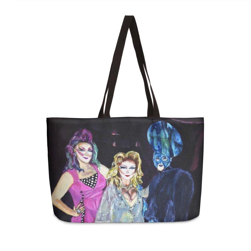 """""""Three Fancy Ladies"""" Accessories Weekender Bag Bag by NatalieGatesArt's Shop"""